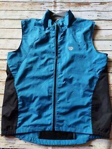 Pearl Izumi Size Lg Unisex Adults Blue Athletic Full Zip Cycling Bike Vest