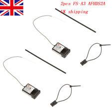 2Pcs Flysky FS-A3 AFHDS2A 2.4G 3CH  Receiver for GT2E GT2G Transmitter P7B3