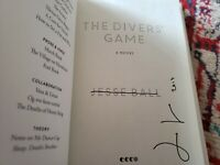 THE DIVERS GAME SIGNED BY AUTHOR JESSE BALL FIRST PRINTING WITH RARE BONUS CARD