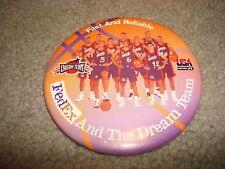 Vintage 1990's FedEx Dream Team Fast & Reliable USA Olympics Basketball Team Pin