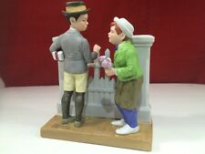 "The 12 Norman Rockwell Porcelain Figurines The Danbury Mint ""The Rivals"" 1980"