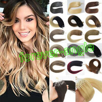 Micro Ring Beads Loop Tip Hair Extensions Double Drawn Russian Remy Human Hair1g