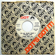 FREE FOR ALL 45 I'm So Glad That I Found You PROMO Mod Beat POPCORN 1968 e3041