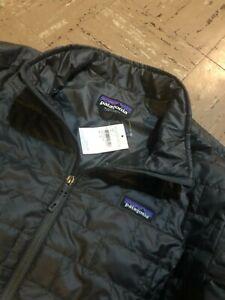 $199 NEW Patagonia Mens XL Nano Puff Gray Full Zip Jacket Puffer