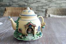 Sammlerstück ENESCO Spieldose Modell Teapot Bungamow',Musikwerk ohne Netzstecker