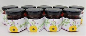 2 Ounce Alfalfa Honey - 9 Small Glass Jars