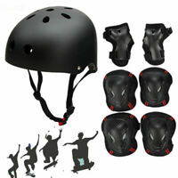 US Adult Kids Protective Helmet+Protector Gear Set Cycling Safety Helmet Skate