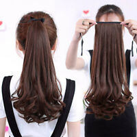 Women Wig Long Curly&Straight Ponytail Claw Clip Hairpiece Hair Extentions JP