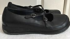 Womens DANSKO Black Leather Mary Janes Oxford Shoes SIZE EUR 41 US 10.5 - 11