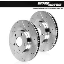 Audi A4 A6 Quattro Allroad S4 Front Drilled And Slotted Brake Disc Rotors