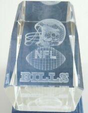 Buffalo Bills NFL Football Paperweight Hologram 3D Glass 3.25 Inch Decoration