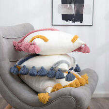 Knitted Tassel Pillowcase Pom Pom Cushion Cover Sofa Bed Throw Covers Home Decor