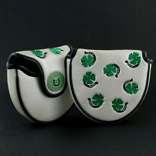 Clover & Horseshoe Head Cover for Scotty Cameron X7, X7M, X5, X5R Mallet Putter