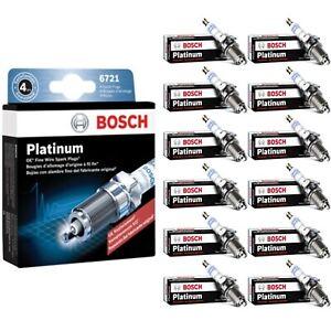 12 Bosch Platinum Spark Plugs For 2002 ROLLS-ROYCE PARK WARD V12-5.4L