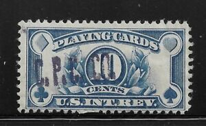 HICK GIRL-USED U.S. REVENUE STAMP  10 CENT PLAYING CARDS  C.P.C.  CO.    O1246