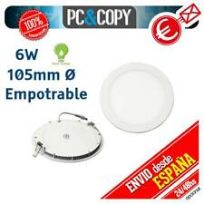 R1062 Downlight Panel LED 6W Techo Luz Blanca Redonda Fina Empotrable