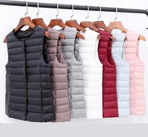 2020 Winter vest Women Ultra Light Down Jacket White Duck Down Slim short coat