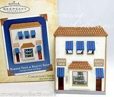 2004 Hallmark Barber Shop & Beauty Shop Ornament Nostalgic Houses and Shops 21st
