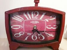 Red Vintage Style Clock By Old Town Clocks London