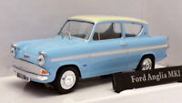 Cararama 1/43 Scale Model Car CR025 - Ford Anglia - Blue/White