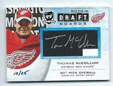 11/12 The Cup - Thomas McCollum - authentic Draft Board Signaure serial #10/25