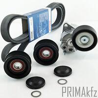 Bosch Cinghia Scanalata + Tendicinghia Puleggia Mercedes W203 W204 W211 W639
