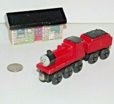 Thomas & Friends Wooden Railway Train Tank James Goes Buzz Red Nose w/ Bee House