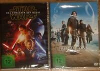 Star Wars Das Erwachen der Macht + Rogue One A Star Wars Story DVD NEU