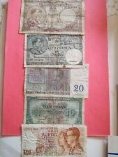 5 Oude Belgische biljetten !!!