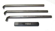 RDGTOOLS HSS Roscado Tool Set 3PC 6MM/55 y 60 grados de soporte de torneado y