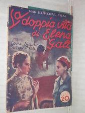 LA DOPPIA VITA DI ELENA GALL Luise Ullrich e Gustav Diesel Europa Film 1937 di