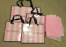 Victoria's Secret Bag Lot 1 Large 3 Small With Tissue Paper C1