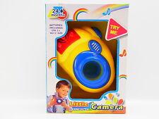 LOT 32211 Baby Fotokamera gelb Sound + Licht, Kamera-Blitz ab 24 Monaten NEU OVP