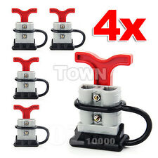 4 x 50amp DC12-24V Anderson Style Plug Connectors T-Bar Handle Dust Cap Cover