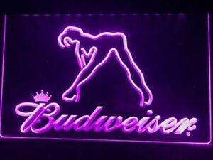 Budweiser Exotic Dancer Stripper Led Neon Light Sign Bar Club Pub Advertise Gift