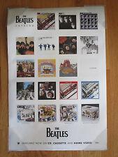 96 BEATLES Catalog Poster PAUL McCARTNEY JOHN LENNON GEORGE HARRISON RINGO STAR