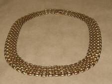 Vintage RUNWAY Cleopatra Style Open Track Link Collar Necklace 18 ""