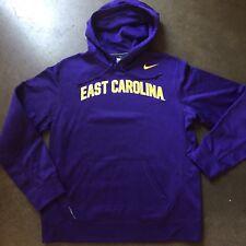 Men's Nike Therma Fit East Carolina Pirates Purple Hoodie Hooded Sweatshirt Sz L