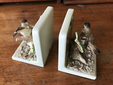 Vintage Japanese Ceramic Bookends Handpainted