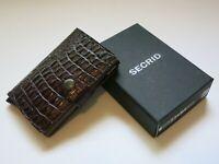 SECRID MINIWALLET Nile Brown Leather Credit Card Holder Neatherlands Handmade