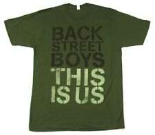 Backstreet Boys This Is Us Stencil Logo Text Green T Shirt New Official Soft