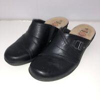 "Earth Spirit Womens Clogs Shoes 6.5 6 1/2 Slip On 2"" Heel Gelron Comfort Walking"