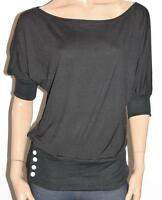 R.J. Story Brand Black Cotton Knit Short Sleeve Pullover Top Size M BNWT #SC31