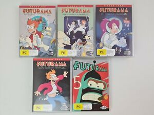 Futurama - Season 1-5 DVD - Cartoon TV Series 1 2 3 4 5 | LIKE NEW WATCHED ONCE