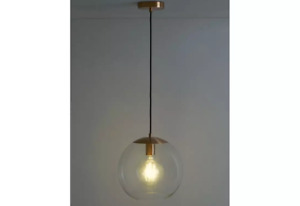 Habitat Coleman Clear Glass Copper Ceiling Light Lights Pendant Chandelier/748+9