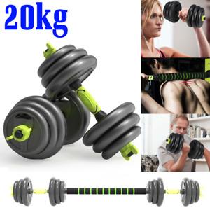20kg 30kg Adjustable Dumbbells Barbell Dumbell Set Gym Weight Training Bar Pair