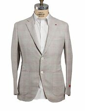 NWT ISAIA Napoli Wool~Silk~Linen Slim Sportcoat 44 (54 8R) Hand-made in Italy