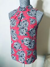 TOKTIO CITY Pink & White Floral Top - Size 8 -