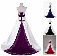 New white wedding dress Gown Bridal Gown Stock Size 6-8-10-12-14-16-18
