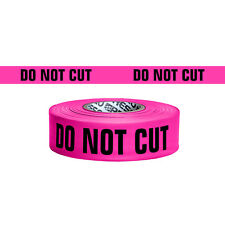 Presco Printed Roll Flagging Tape: 1-1/2 in. x 50 yds. (Pink/Black DO NOT CUT)